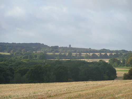 View across the fields to Mickleton